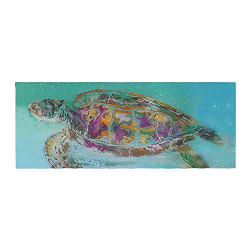 Kess InHouse Josh Serafin Mommy Turtle Bed Runner