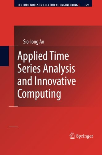 Applied Time Series Analysis and Innovative Computing (Lecture Notes in Electrical Engineering) by Ingramcontent