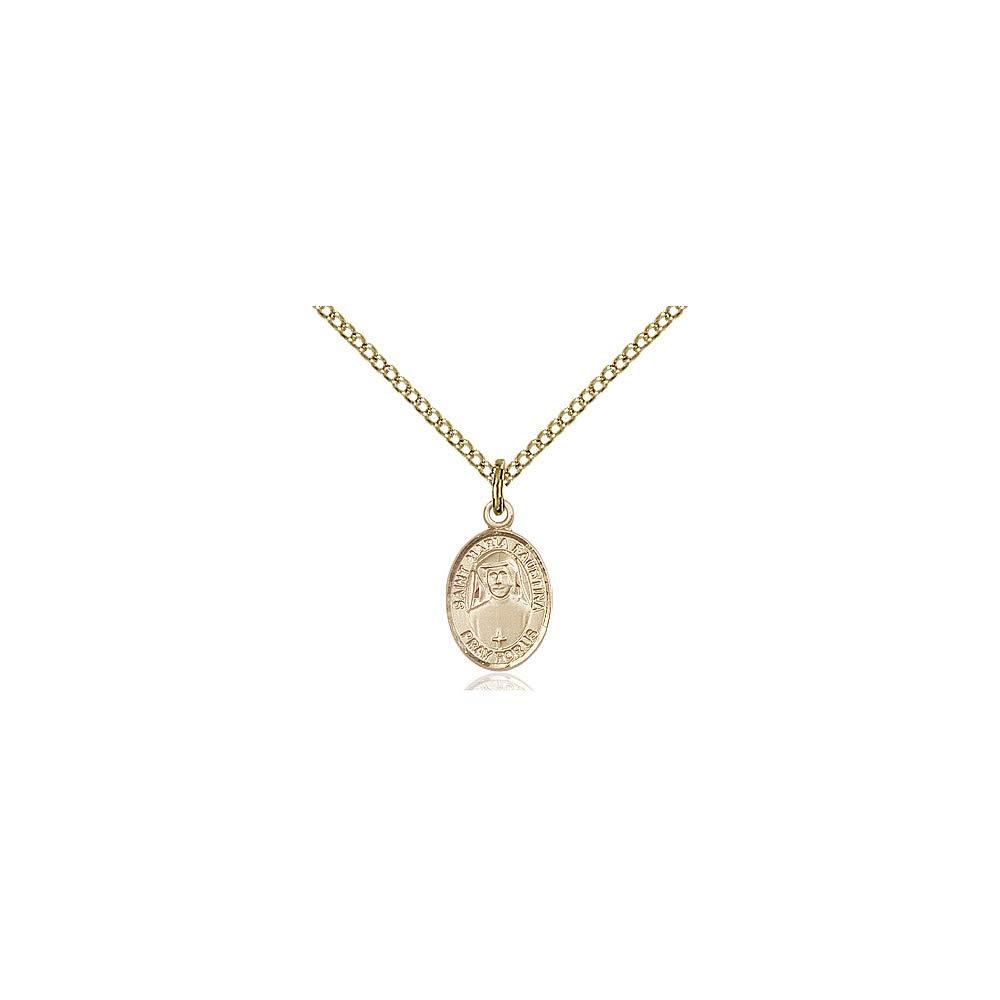 DiamondJewelryNY 14kt Gold Filled St Maria Faustina Pendant