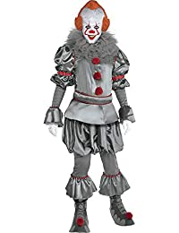 It Chapter Two Tattered Pennywise Costume for Adults, Includes a Clown Suit, Mask, and Collar