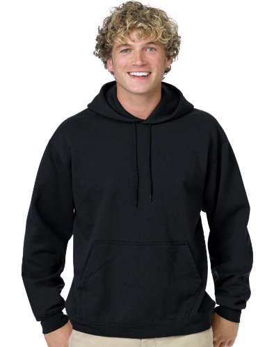 Hanes Men's Pullover EcoSmart Fleece Hoodie, Black, Large