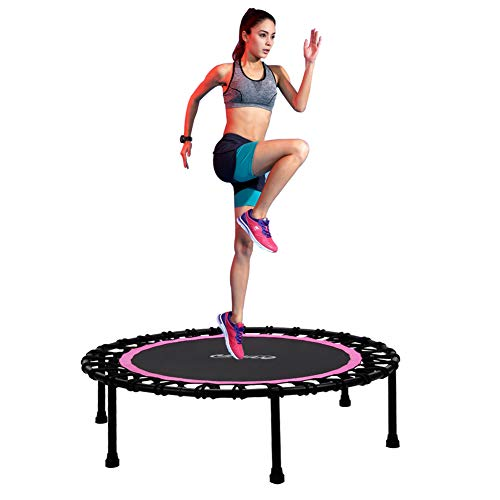 Newan 40″-48″ Silent Mini Trampoline Fitness Trampoline Bungee Rebounder Jumping Cardio Trainer Workout for Adults – Max Limit 330 lbs