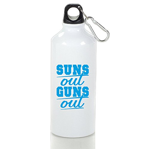 DETED Seamless Sun's Out Guns Out Drinkware Water Bottle For Gym Travel Home Office Running Sport Outdoor Size500ml