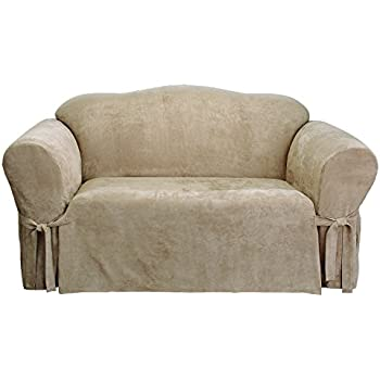Amazoncom Sure Fit Soft Suede TCushion Loveseat Slipcover