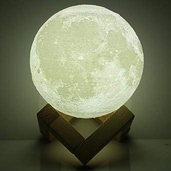 De Nuit Maison Rechargeable Connectée 15cm 3d Lune Lampe jAR3q54L