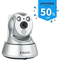 FREDI 960P Indoor WiFi IP Security Camera Network Pan/Tilt Baby Monitor-Best Surveillance Camera System with 2 -way Audio/IR Night Vision/Motion Dection (Silver)