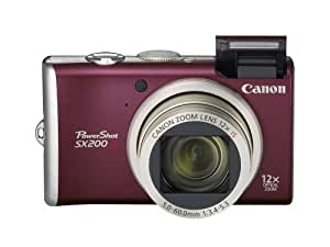 Canon PowerShot SX200IS 12.1 MP Digital Camera with 12x Wide Angle Optical Image Stabilized Zoom and 3.0-inch LCD (Red)