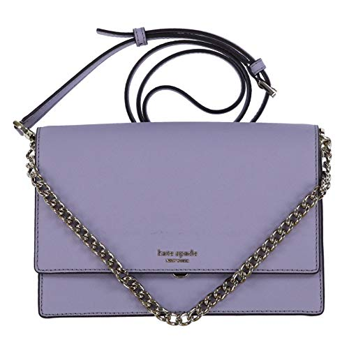 Kate Spade New York Leather Cameron Convertible Crossbody Handbag Clutch, Icy ()