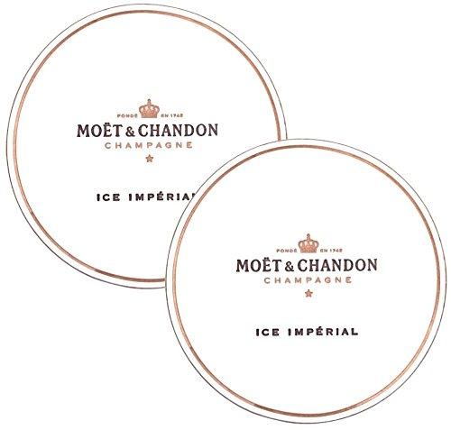 Moet & Chandon Ice Imperial 10er Set Glas-Untersetzer aus Papier für Champagner Gläser Paper-Coaster Champagne Glasses Flutes