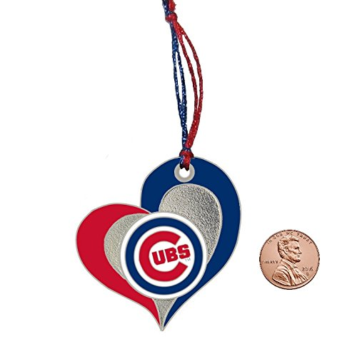 Chicago Cubs Heart Ornament