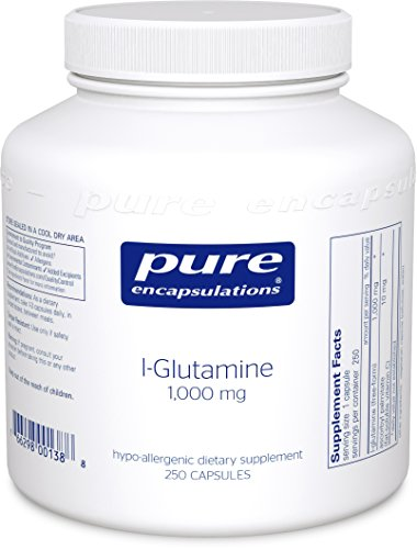 Pure Encapsulations - l-Glutamine 1000 mg - Hypoallergenic Supplement Supports Muscle Mass and Gastrointestinal Tract* - 250 Capsules