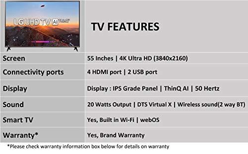 LG 139.7 cm (55 inches) 55UK6500PTC 4K UHD LED Smart TV (Black)