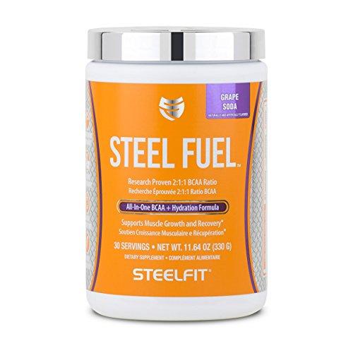 SteelFit, Steel Fuel All-In-One BCAA + Hydration Formula, Grape Soda, 30 Servings