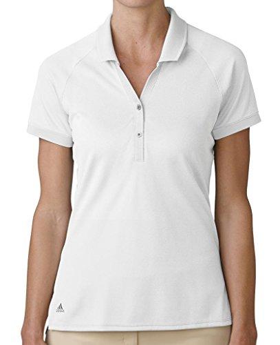 (adidas Golf Women's Golf Essential Pique Polo Shirt, White, Small)