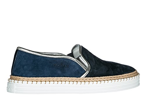 Hogan on Blu r260 Slip Nuove in Donna camoscio Sneakers Originali TT5Prpxqw