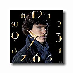Art time production Sherlock Holmes 11'' Handmade Wall Clock - Get Unique décor for Home or Office - Best Gift Ideas for Kids, Friends, Parents and Your Soul Mates