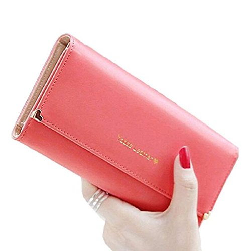 Women Red cute Leather Elegant Clutch Bags Watermelon wrist Long Wallet wallets wallet PU Gift Purse Wallet Clearance 2018 Noopvan qOwFtUAq