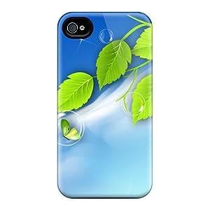 DustinHVance Iphone 4/4s Hybrid Tpu Case Cover Silicon Bumper Bubbles Butterflies Fresh