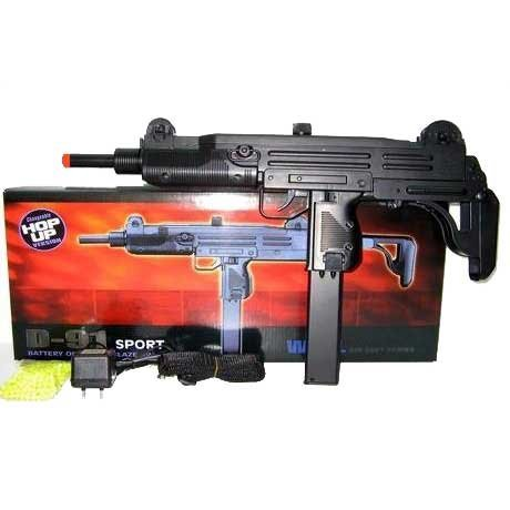 (Well Electric D 91 UZI Airsoft Fully Auto Gun Airsoft)