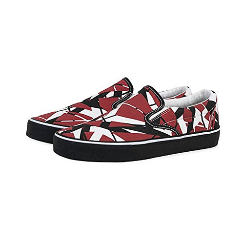 EVH Eddie Van Halen Stripes Slip on Sneakers, Red