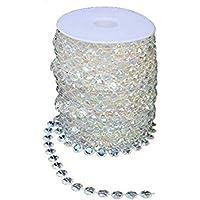 SHAFIRE Crystal Rhinestone Chain Roll Garland Diamond Strand Acrylic Bead Curtain Romantic Party (10m)