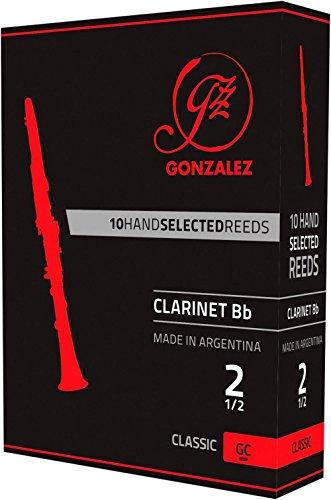 Caja de 10 cañas Gonzalez Clásico Clarinete Bb vigor el 3 de