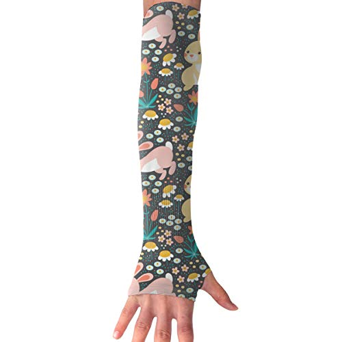 (ZP-CCYF Men Women Arm Protection Sleeve Bunnies and Turtle UV Protection Cooling Or Warming Arm Sleeves for Running)