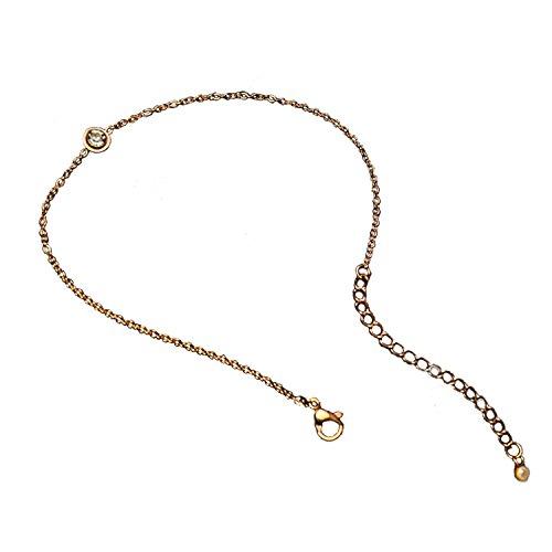 Liquid Link Necklace (NON ROCK Rose Gold Fashion Jewelry Diamond Link Anklet Women Anklet Bracelet)