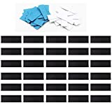 YYST 30 (0.5 x 1.5 Inch) Magnetic Name Card Holders Lineup Board Tabs –Magnetic Label C-Channel Shelf Labels for Magnetic Baseball Softball Line-Up Board Coach Marker Board - No Board