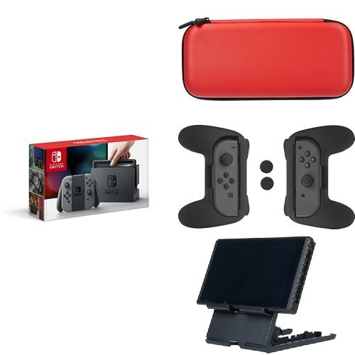 Price comparison product image Nintendo Switch - Grey Joy-Con Console & Accessories Bundle
