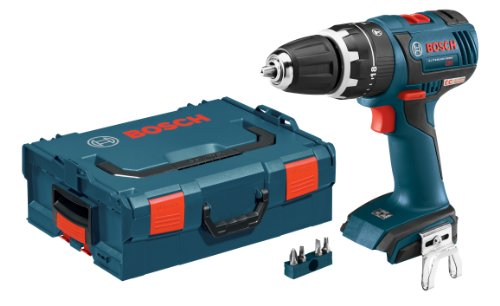 Bosch HDS182BL Bare-Tool 18-volt Brushless 1/2-Inch Compact Tough Hammer Drill/Driver with L-Boxx-2 and Exact-Fit Tool Insert (Bosch Heavy Duty Drill)