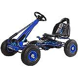 "Ricco pb9588PB9588Aa ""azul pb9788a– kart azul para niñossobre con ruedas de goma deportes de carreras de juguete"" trike coche"