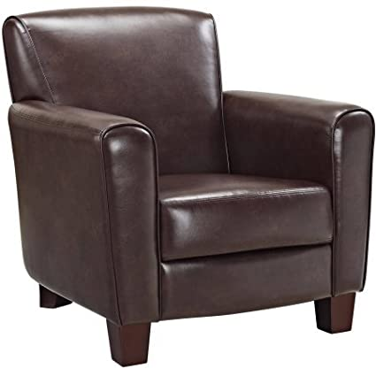 Better Homes And Gardens Ellis Faux Leather Club Chair, Brown