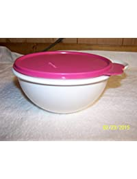 Gain Tupperware Mini Thatsa Bowl 6cup White with Large Tab Pink Seal lowestprice