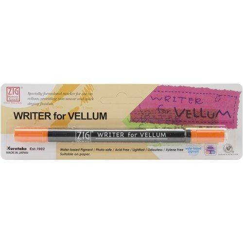 Orange Vellum (Zig Memory System Vellum Dual Tip Marker, Carded, Orange)