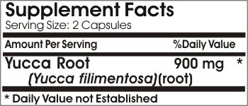 Yucca Root 900mg // 200 Capsules // Pure // by PureControl Supplements