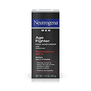 Neutrogena Men Age Fighter Face Moisturizer With Sunscreen Broad Spectrum Spf 15, 1.4 Oz