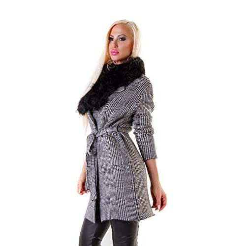 timeless design ef961 6a191 OSAB-Fashion 4376 Damen Mantel Kurzmantel Cardigan Kariert ...