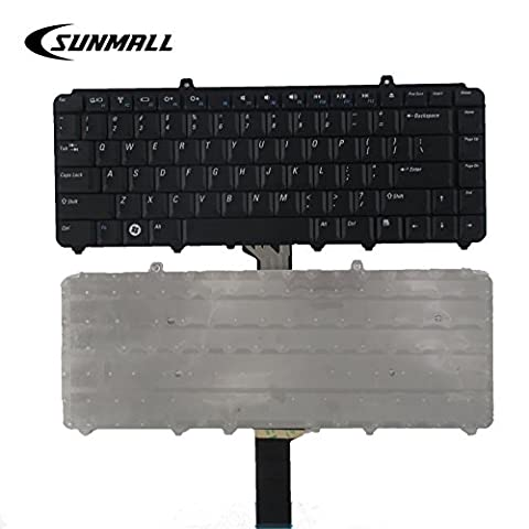 SUNMALL Keyboard Replacement for Dell Inspiron 1318 1520 1521 1525 1525se 1526 1526se 1545 1546,Vostro 1000 1400 1410 1420 1500 1540 ,XPS M1330 M1530 0NK750 9J.N9283.001 NSK-D9001 Laptop US (Inspiron 1545 Bezel)