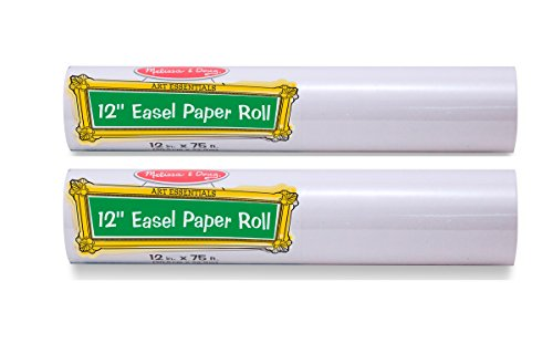 Melissa & Doug Tabletop Easel Paper Roll (12 inches x 75 feet) - 2-Pack