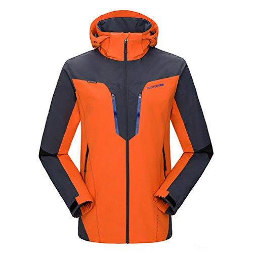 [Timeiya Men's Outerwear Mountain Windproof Jacket Hooded Hiking Sportswear Spring] (Best Figure Skating Costumes)