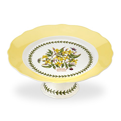 Garden Footed Cake Plate (PORTMEIRION BOTANIC GARDEN TERRACE Scalloped edge footed cake plate medium)