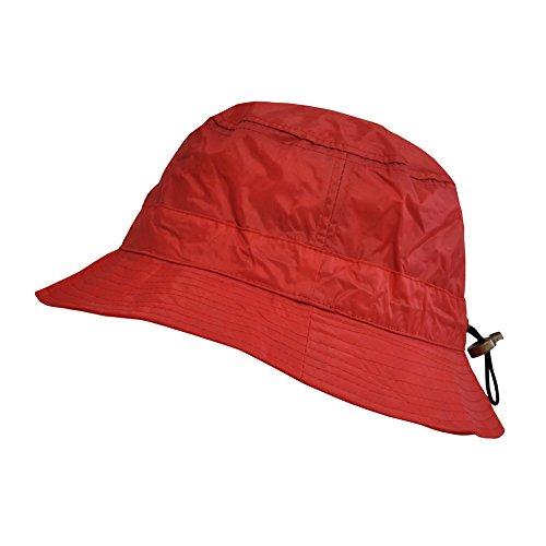 TOUTACOO, Waterproof Bucket Rain Hat in Nylon Red