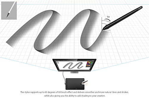 XP-Pen Deco 01 V2 10x6.25 Inch Digital Graphics Drawing Tablet Drawing Pen Tablet with Battery-Free Passive Stylus and 8 Shortcut Keys (8192 Levels Pressure)