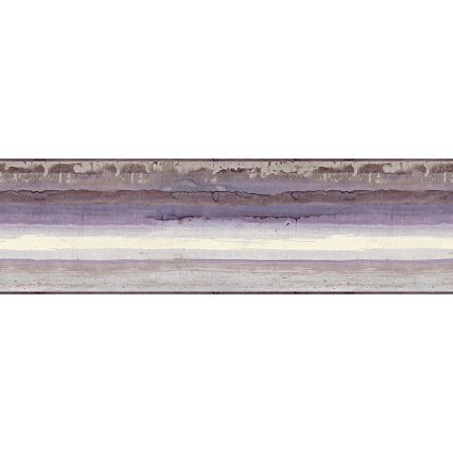- York Wallcoverings Portfolio II Mesa Border Removable Wallpaper, Purple