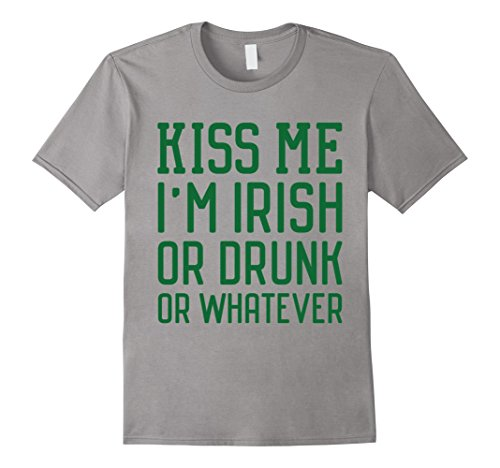 Men's Kiss Me I'm Irish - Funny St Patrick's Day T-Shirts Large (Kiss Me I'm Irish Costume)