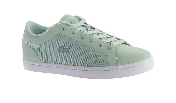 b25e431d4 Lacoste Women s Straightset 116 4 Sneaker Light Green Textile Leather Synthetic  Size 5 M  Amazon.ca  Shoes   Handbags