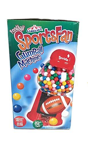 - Carousel Football Sports Fan Die-Cast/Glass Globe Gumball Machine - 12