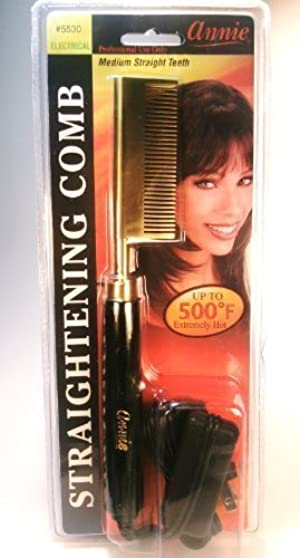 ANNIE Electrical Straightening Hot Comb - Medium Straight Teeth by N'iceshop