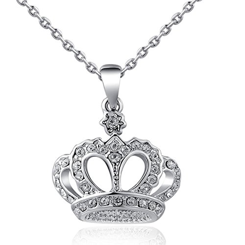 AROUND 101 Swarovski Elements You Are My Queen Crown Diamond Pendant (Diy Evil Queen Costume)